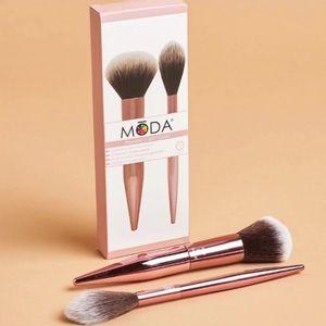 MODA -Powder +Soft Glow brush set